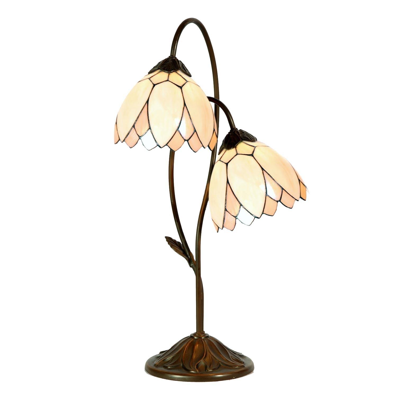 Stolní Tiffany lampa Flowers - Ø 33*61 cm