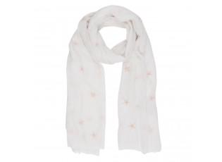 Bílý šátek Sky - 70*180 cm