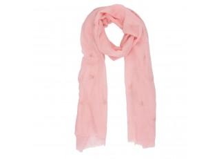 Růžový šátek Sky - 70*180 cm