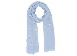Modrý šátek Flamingo - 70*180 cm