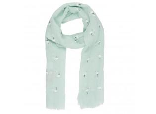 Zelený šátek Flamingo - 70*180 cm