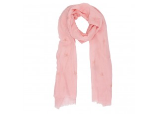 Růžový šátek Flamingo - 70*180 cm