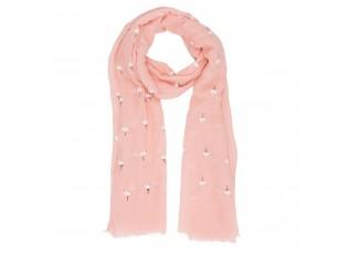 Oranžový šátek Flamingo - 70*180 cm