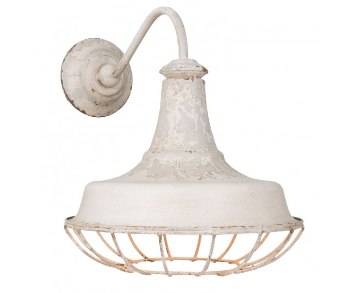 Nástěnná bílá vintage lampa - 35*46*39 cm