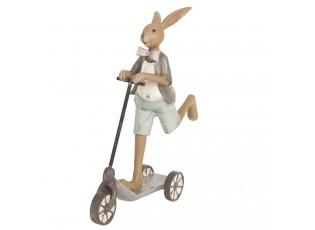 Dekorace  Zajíc na koloběžce  - 15*5*18 cm