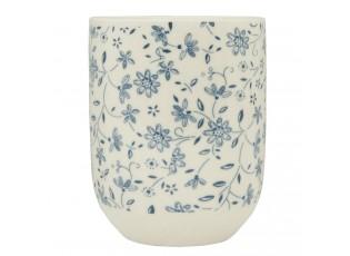 Kalíšek na čaj modrá kvítka - Ø 6*8 cm / 0,1L