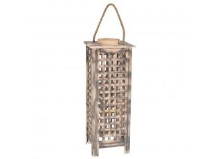 Dřevěná lucerna Toren L - 21*19*51 cm