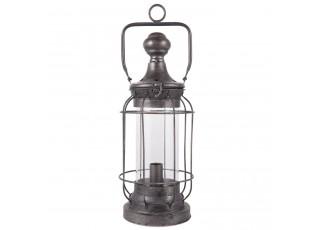 Kovová stolní lampa ve tvaru lucerny - Ø 17*42 cm