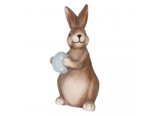 Dekorace Zajíc s vajíčkem - 11*10*23 cm