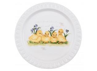 Velikooční talíř s dekorem kuřátek - Ø 23*2 cm