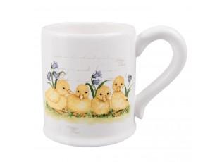 Velikonoční hrneček s motivem housátek - 13*9*10 cm / 0.3 L