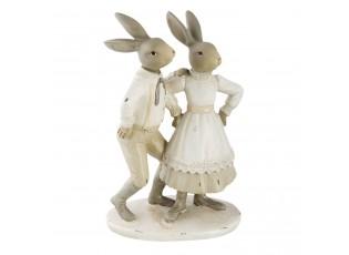 Dekorace Zajíc se zaječicí - 15*10*23 cm