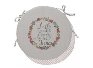 Kulatý podsedák s výplní Pretty Little Things - Ø 40 cm