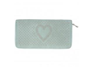 Peněženka Sweet heart tyrkysová - 10*19 cm