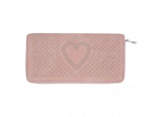 Peněženka Sweet heart růžová - 10*19 cm