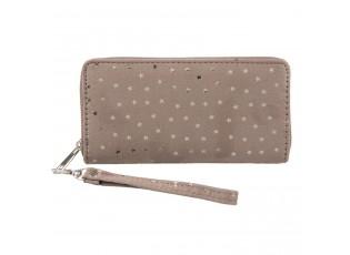 Béžová peněženka Slimmering stars - 19*9 cm