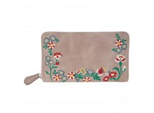Přírodní peněženka Boho flowers - 11*19 cm
