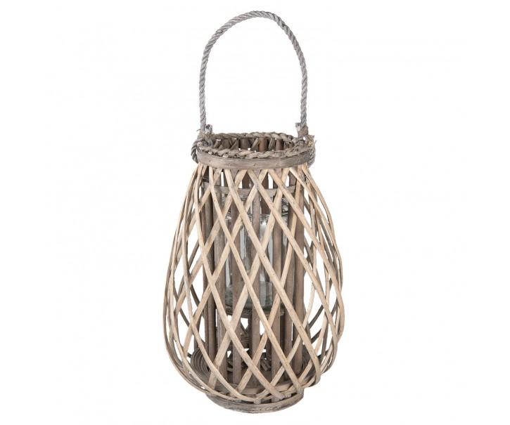 Dřevěná lucerna Antonella vel. M - Ø 27*40 cm