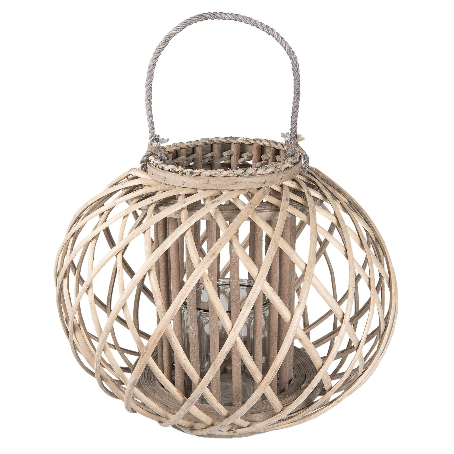 Dřevěná lucerna Brisa vel. L - Ø 45*33 cm