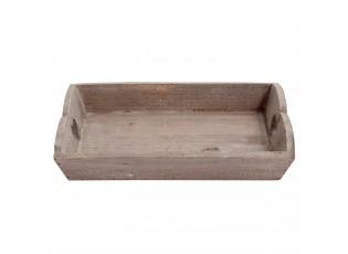 Dřevěný podnos se srdíčky - 25*15*5 cm