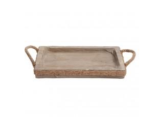 Dřevěný servírovací podnos - 44*36*6 cm