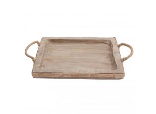 Dřevěný servírovací podnos - 41*22*5 cm