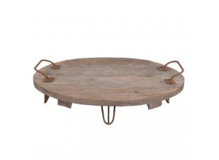 Dřevěný servírovací podnos - Ø 44*15 cm