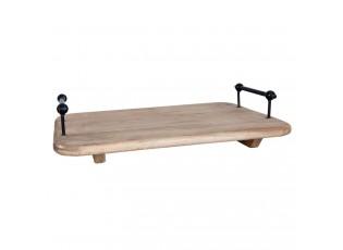Dřevěný servírovací podnos - 42*28*10 cm