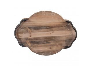 Dřevěný servírovací podnos - 37*27*5 cm