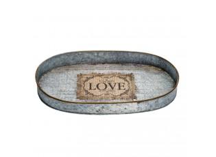 Kovový podnos Love - 36*23*4 cm