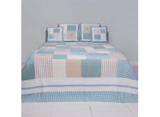 Přehoz na postel Blue square - 260*260 cm