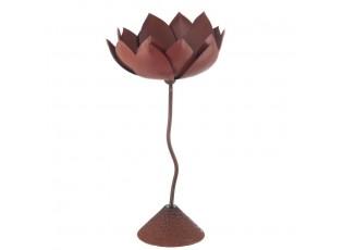 Kovový svícen Flower - 16*16*33cm