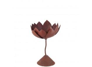 Kovový svícen Flower - 15*15*22cm