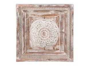 Dřevěná dekorace na zeď - 39*4*39 cm