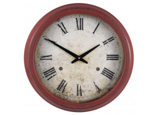 Kovové červenohnědé hodiny - Ø 41*10 cm