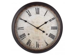 Kovové hnědé hodiny - Ø 63*10 cm