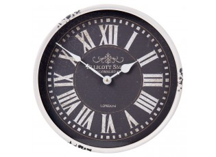 Kovové bílé hodiny Ellicott Smith - Ø 31*8 cm