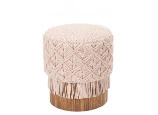 Stolička - podnožka Macramé Rose  - Ø 40 * 47 cm