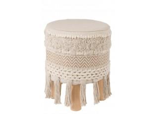 Stolička - podnožka Ibiza Creme  - Ø 35 * 40 cm