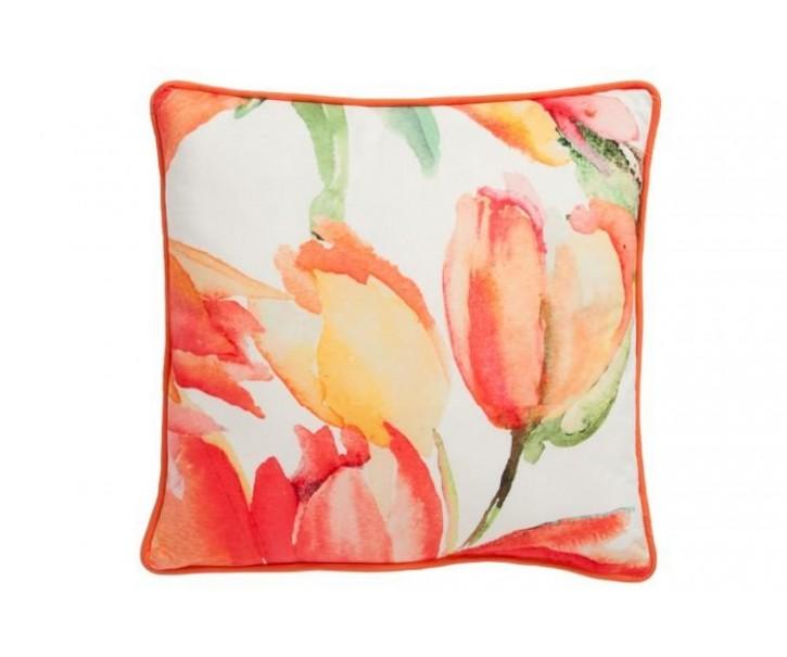 Povlak na polštář  s tulipány -  45*45cm