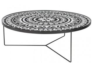 Kovový konferenční stolek Motif - Ø 100 * 35cm