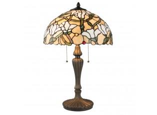 Stolní Tiffany lampa White blossom - Ø 40*60 cm