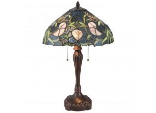 Stolní Tiffany lampa Blue garden - Ø 40*62 cm