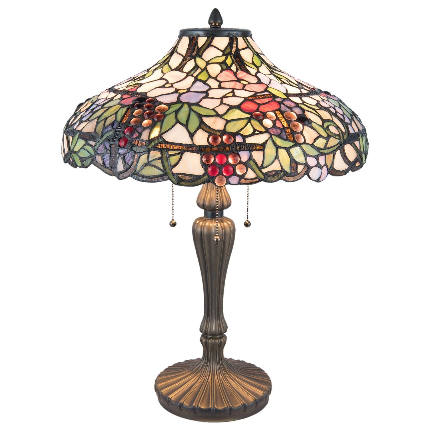 doprava GEIS zdarma Stolní Tiffany lampa - Ø 46 60 cm 6df6cb38da8
