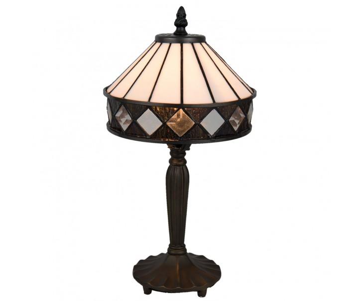 Stolní Tiffany lampa Black & White - Ø 20*36 cm