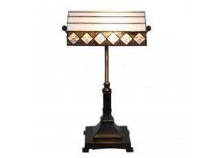 Stolní Tiffany lampa Black & White - 26*20*43 cm