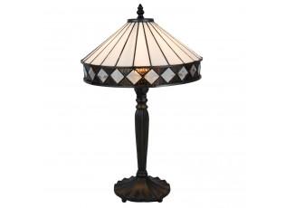 Stolní Tiffany lampa Black & White - Ø 30*47 cm