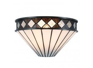 Nástěnná Tiffany lampa Black & White - 31*16*17 cm