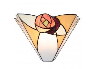 Nástěnná Tiffany lampa Rosa - 30*14*19 cm / E14 / Max. 1x40 Watt