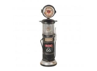 Kovové stolní hodiny Gasonline černé - 14*13*44cm